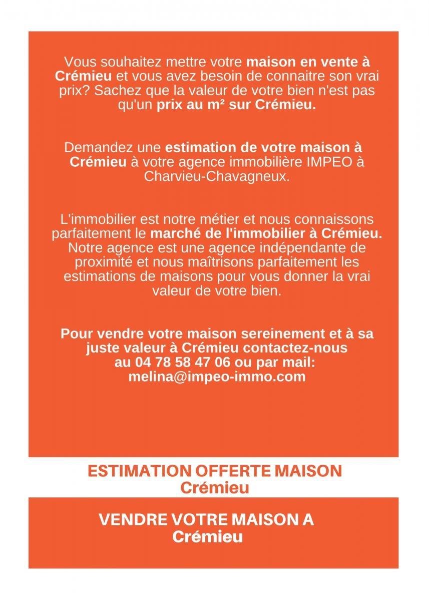 ESTIMATION MAISON CREMIEU, vendre sa maison à CREMIEU,avec IMPEO Immobilier !