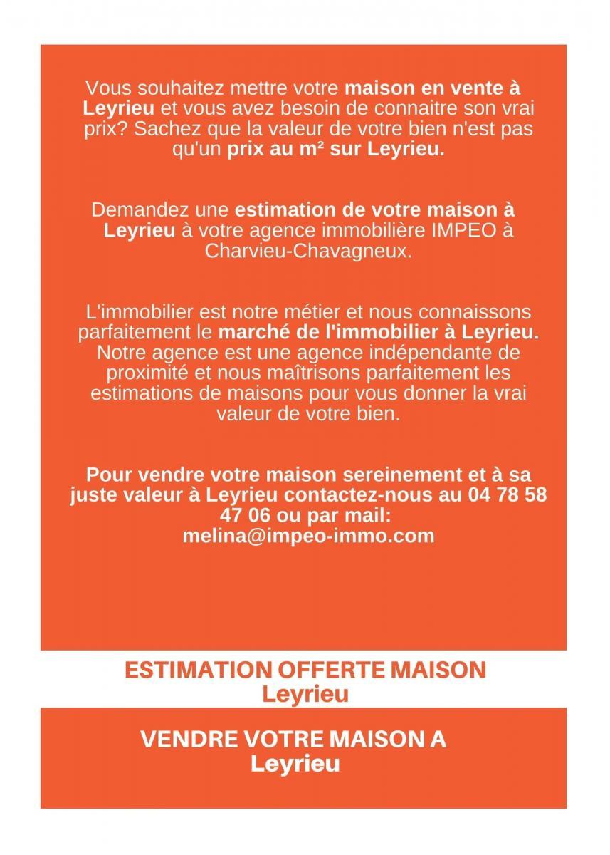 ESTIMATION MAISON LEYRIEU, vendre sa maison à LEYRIEU,avec IMPEO Immobilier!