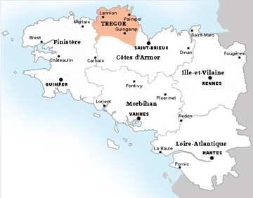 Carte Saint Brieuc