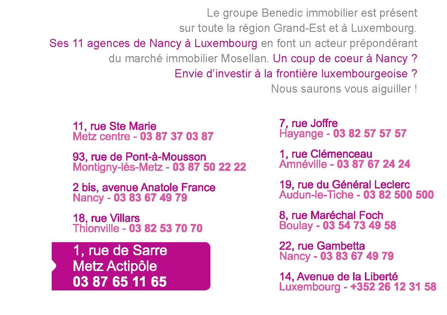 Agence Immobilière à Nancy Nancy Amneville Audun Le Tiche Boulay