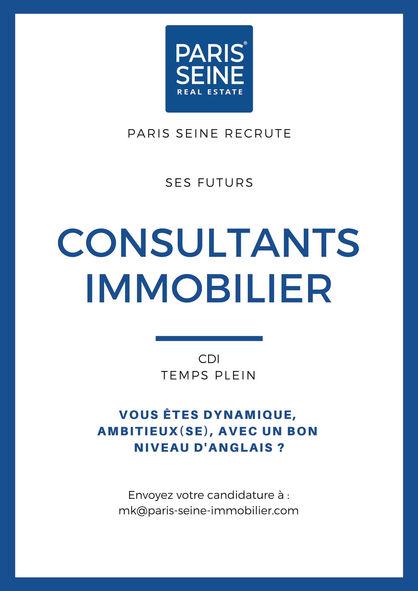 Offre d'emploi consultant immobilier à Paris